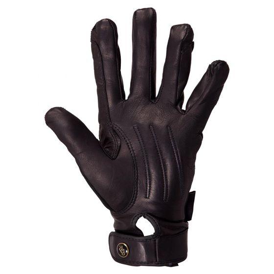 BR Jízdní rukavice Comfort Pro Spandex horní kožená dlaň