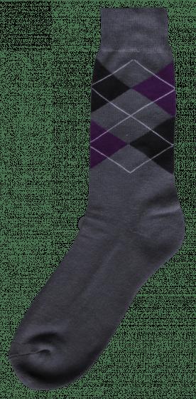 Excellent Jezdecká ponožka šedá / černá / fialová