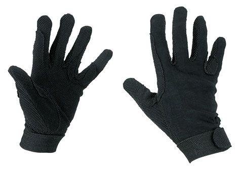 Hofman jezdecké rukavice Bavlna Black XL