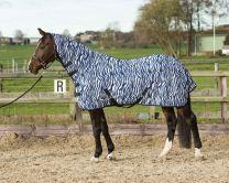 Harryho koňská síťka s krkem a popruhem, medvědí modrá zebra