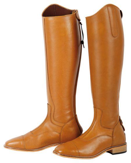 Harryho koňské jezdecké boty Elite Cognac široké