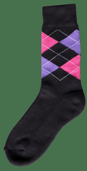 Excellent Jezdecká ponožka d. Šedá / růžová / fialová