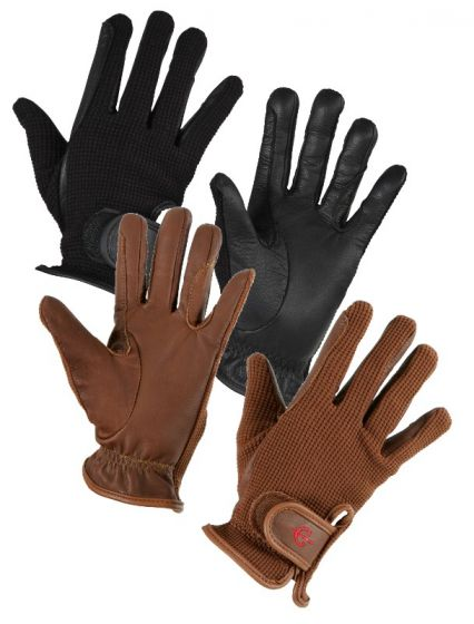 Hofman jezdecké rukavice Zico Black XL