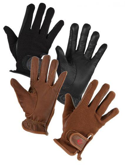 Hofman jezdecké rukavice Zico Brown S