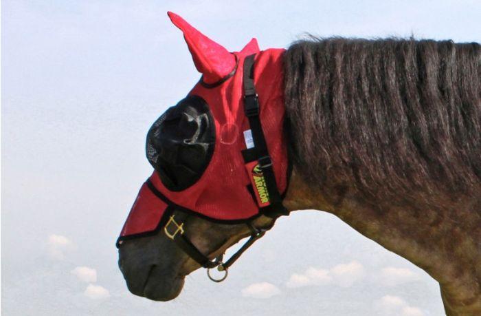 Hofman Kůň Armor knockdown létat maskou jedna velikost (hmyzu štít)