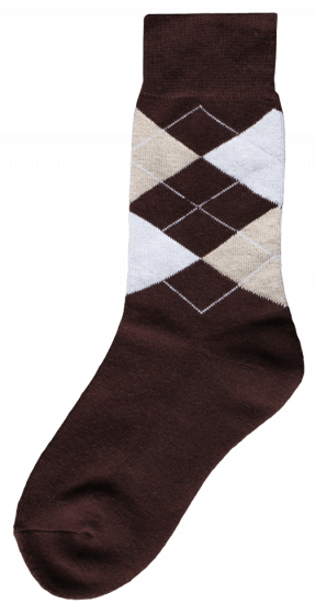 Excellent Jezdecká ponožka hnědá / béžová / bílá 43-46
