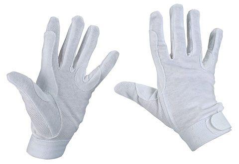 Hofman jezdecké rukavice Bavlna White XL