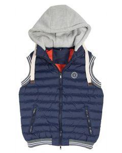 PFIFF Prošívaná vesta s odepínací kapucí