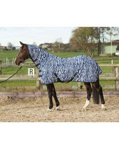 Harry's Horse Síťovaná síťovina s výstřihem a popruhy, středověká modrá zebra