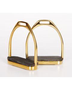 Konzoly z ušlechtilé oceli z koně, rovná, zlatá 12cm
