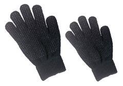 Hofman jezdecké rukavice Magic Grippy Black Kids
