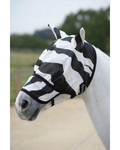 Bucas Buzz-Off Zebra Fly Mask s nosem