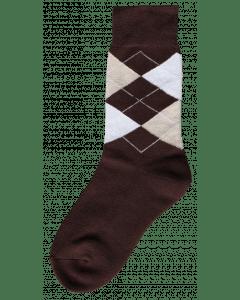 Excellent Jezdecká ponožka hnědá / béžová / bílá 35-38