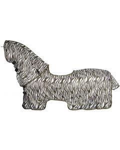 Harry's Horse Síťovina s odnímatelným krkem a sedlovou podložkou z ovčí kůže, bridoon do hog-out