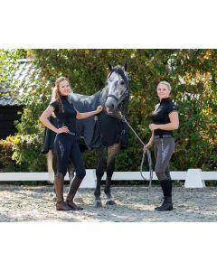 QHP Jezdecké kalhoty s nasazením Ella protiskluzové plné sedadlo Gray 34