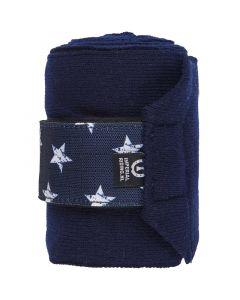 Bandage Star Icon Navy Plné