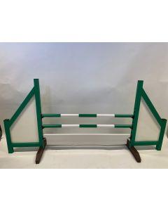 Zelená překážka (zavřená) s 2 skákajícími paprsky, 6 závěsnými konzolami a překážkovou deskou