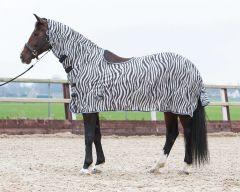 Harryho kůňka, síťovina, výstřih krku a sedla, zebra šedá