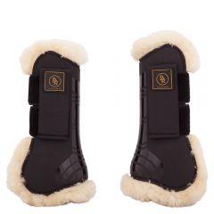 Boty boty BR Broušená imitace ovčí kůže