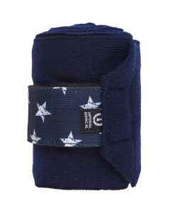 Bandage Star Icon Navy Plné
