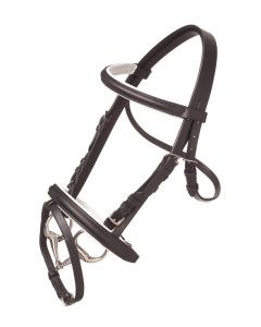 HB Bridle Basic Black/White