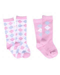 QHP Dětská ponožka Check (sada 2)
