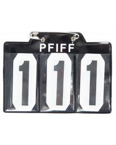 PFIFF Startovní číslo pro schabrak