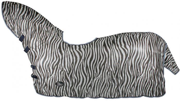 Harry's Horse Pletená síťovina, prohlubeň a sedlo, zebra šedá